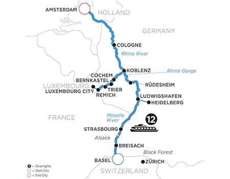2021 River Cruise Savings -Rhine & Moselle