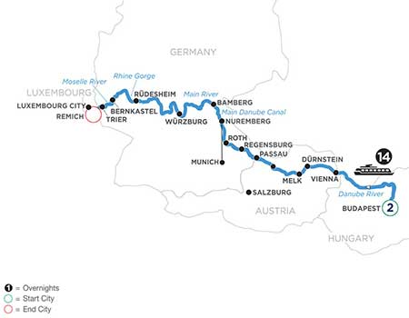 2021 River Cruise Savings Central Europe