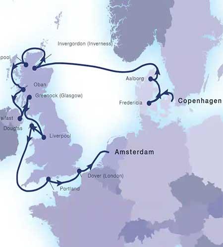 Cruise Upgrades---Gems of Britain-Map