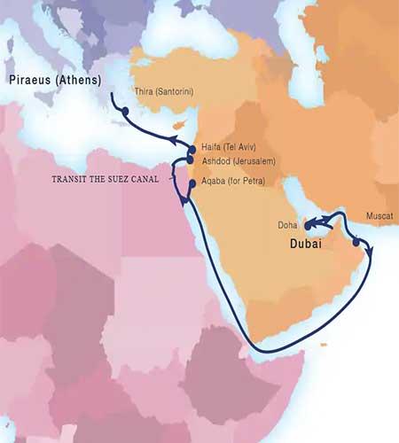 Cruise Upgrades - Holy Land Map