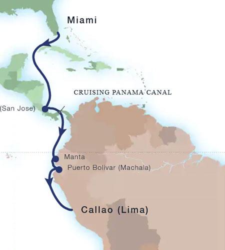 Cruise Upgrades---Panama-Canal-Map