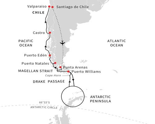 Free Flights - Hurtigruten Map 1