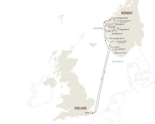 Free Flights - Hurtigruten Map 2