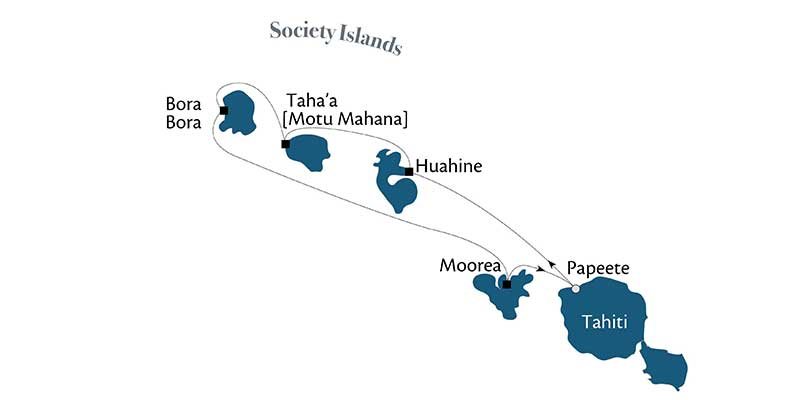 Solo Travel South Seas Cruise - Map