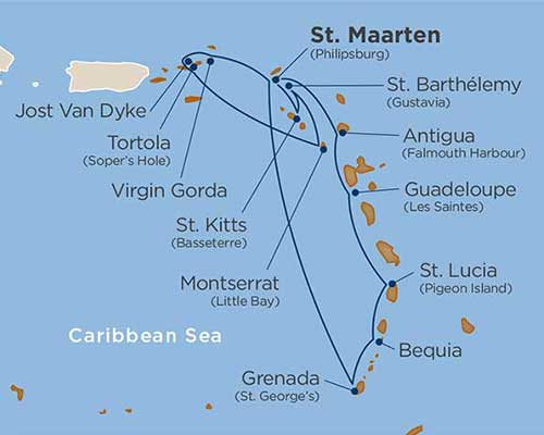 Caribbean-Cruise-Packages star collector-map