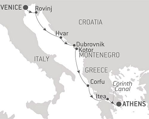 Themed Cruises - Map Aegean